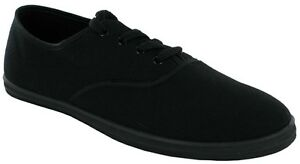 MENS-GENTS-BOYS-FLAT-SHOES-CANVAS-PUMPS-LACE-UP-CASUAL-PLIMSOLLS-TRAINERS-SIZE