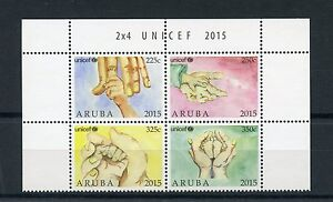 Aruba 2015 MNH UNICEF 4v Block Set United Nations Children's Fund Aid Charity