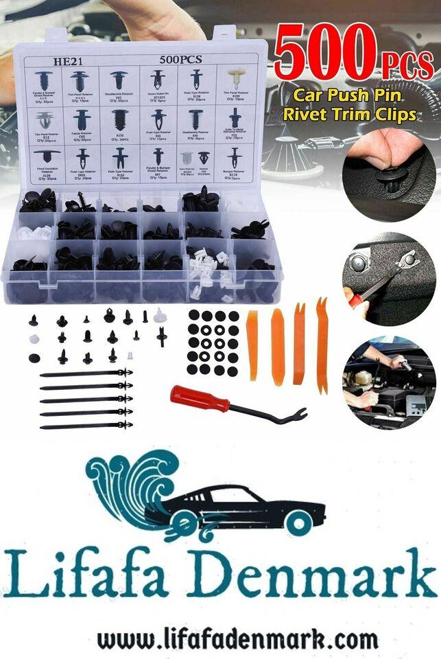 CAR BODY 500 stk Nitter Fixation Clips Plastique