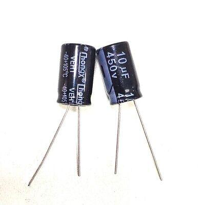 10pcs 10uF 450V Electrolytic Capacitor 450V10UF 13x21mm