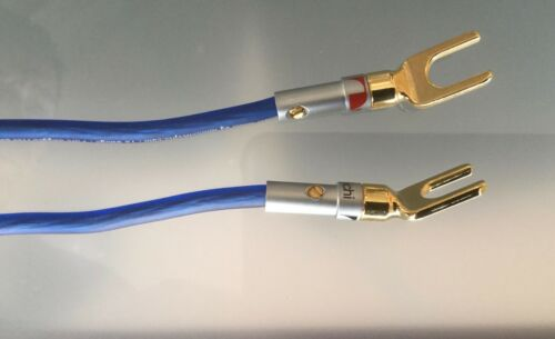 Pair of SPEAKER JUMPER CABLES 5 inches long Audiophile Grade 12 Gauge OFC Wire