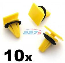 10x Yellow Plastic Trim Clips for Side Skirts & Sill Mouldings- Kia / Hyundai