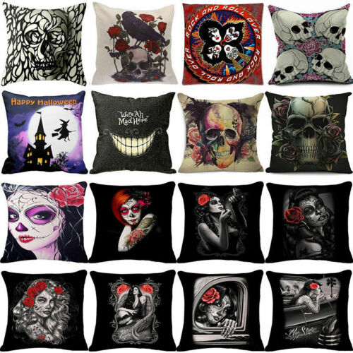 18/'/' Hollween Pumpkin Cotton Linen Pillow Case Sofa Cushion Covers Home Decor