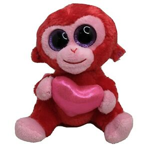 "Ty NEW Beanie Baby CHARMER the Pink /& Red Monkey 6/"" MWMT FREE Shipping!!"