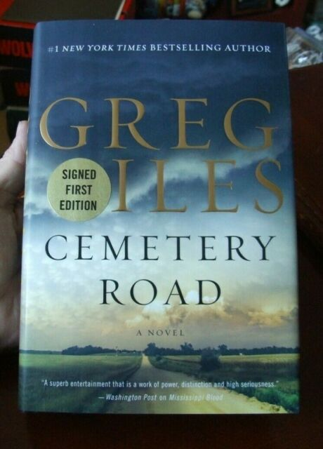 """Cemetery Road"" by Greg Iles - Signed, 1st Edition / Print"