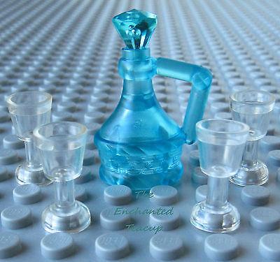 Wine Drink Food Bottle Minifig Castle LEGO 20x Goblets Blue Black Gold Clear