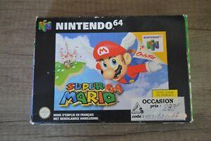 Jeu Game Super Mario 64 en boite pour console Nintendo 64 N64 version PAL FAH
