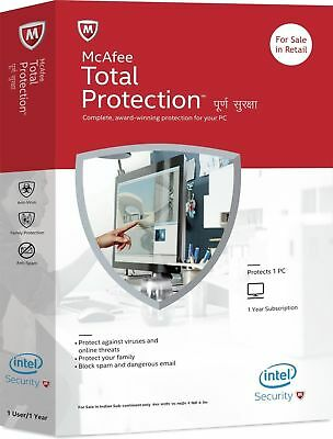 Windows 7//8//10 eDelivery McAfee AntiVirus 2019 for 1 Year