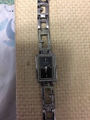 GUESS Ladies Silver Stainless Crystal Collection Watch G85466L Bracelet Used | eBay