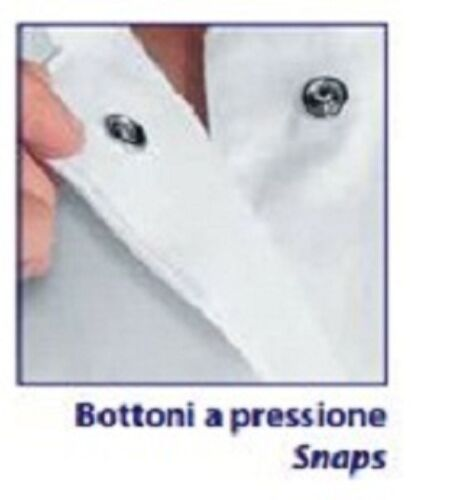 Cod 052 poliestere 318 Uomo Large Isacco Loose Shirt Philadelphia Chef Giacca 100 White TfnB1q6wf