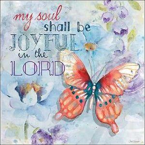 Carol-Robinson-Joyful-Wedge-Frame-Picture-Canvas-Flowers-Butterfly-Pastel