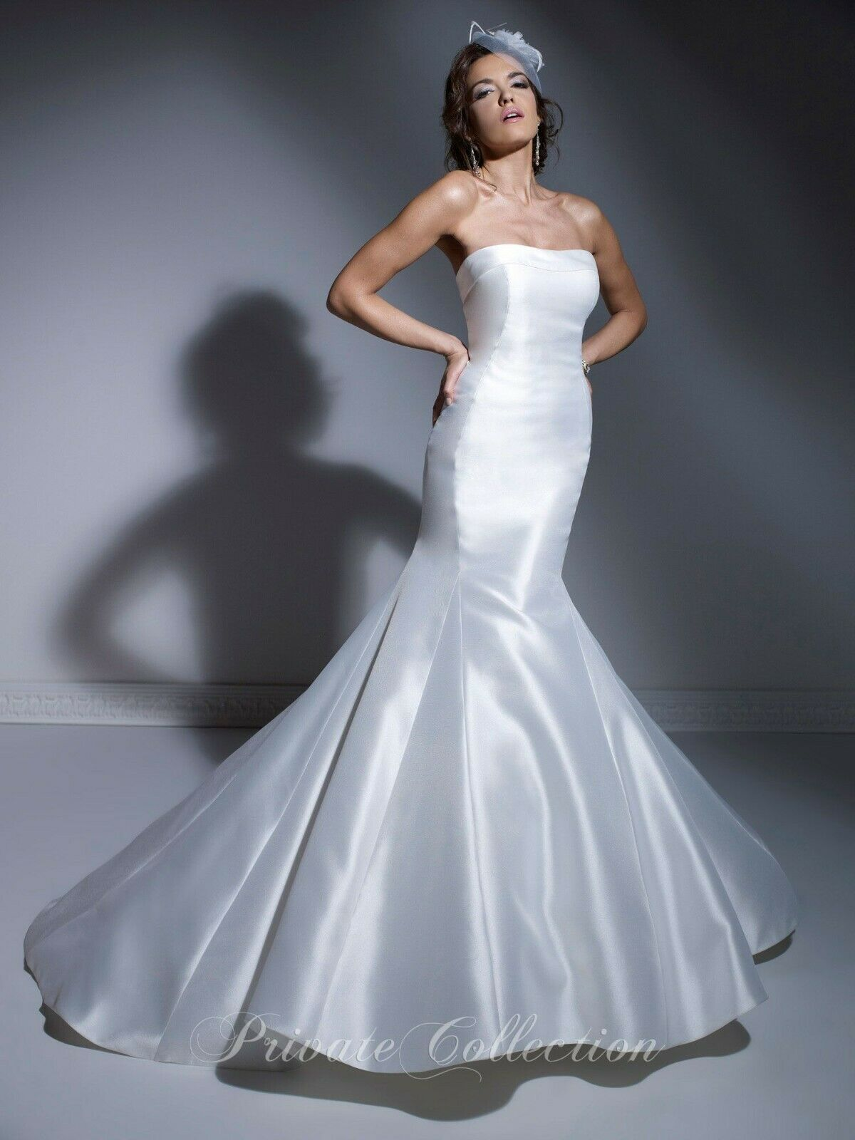 Private Collection Bridal Wedding Dress 18841 White Satin Size 16 NWT Wu