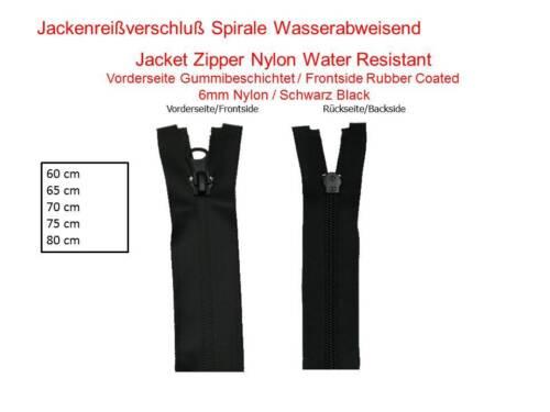 Wasserabweisender guter Reißverschluß schwarz 60 65 70 75 80 cm Regenbekleidung