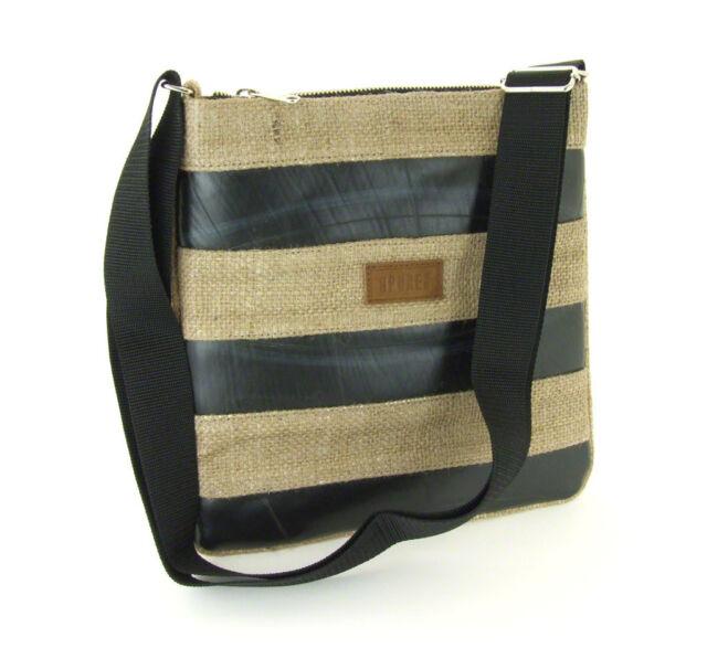 50% OFF! Eco Friendly Natural Jute Recycled Inner Tube Cross Body Shoulder Bag
