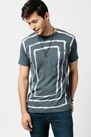 Ebt Men's Grey Squares Tee Shirt Sizes Small Medium & Large S M L Earthbound