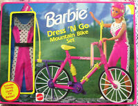 Mattel Barbie Dress N' Go Mountain Bike Set 7564 1992 Arco Retired