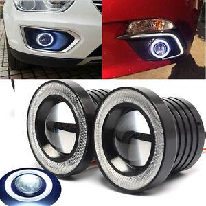 2x-2-5-034-Eagle-Eye-circulacion-diurna-faros-antiniebla-LED-coche-moto-12v-3200lm