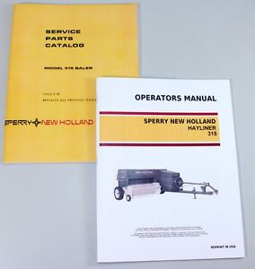 Details about SET SPERRY NEW HOLLAND 315 HAYLINER BALER OWNERS OPERATORS  PARTS MANUAL CATALOG