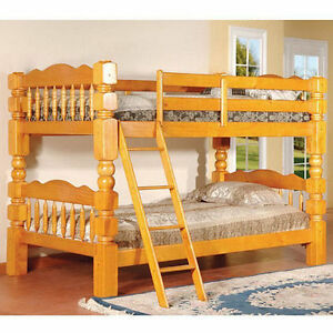 Oak Bunk Beds Twin Over Full