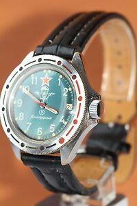 Komandirskie-Wrist-Watch-Vostok-USSR-Vintage-Mechanical-Soviet-watch