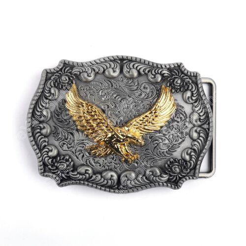 Men Vintage Belt Buckle Bull Eagle Head Logo Zinc Alloy Motorcycle Belt Buckle T