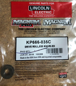 LINCOLN KP666-035C DRIVE ROLL,035 KNURLED