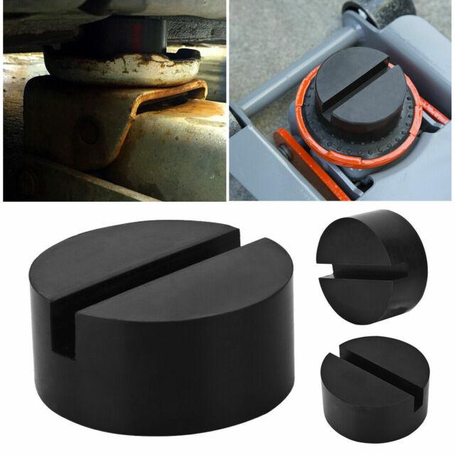 Rubber Pad Block Slots Hydraulic Ramp Jacking pads Trolley Jack Adapter Black