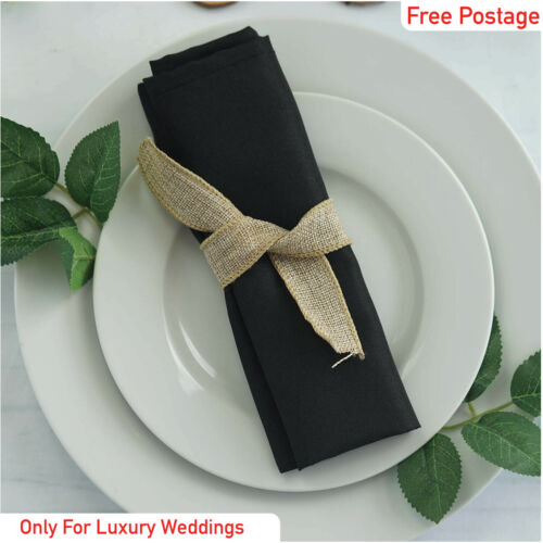 Plain serviettes de table de luxe mariage coton Pack 12 Dîner Tissu Noël
