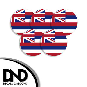 Hawaii-State-Flag-HI-Circle-Sticker-USA-Helmet-Decal-5-Pack-2-5in