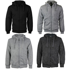 Men-039-s-Athletic-Warm-Soft-Sherpa-Lined-Fleece-Zip-Up-Sweater-Jacket-Hoodie