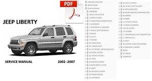 jeep liberty 2002 2003 2004 2005 2006 2007 repair service manual ebay rh ebay com jeep liberty 2005 service manual pdf jeep liberty 2005 workshop service repair manual pdf download