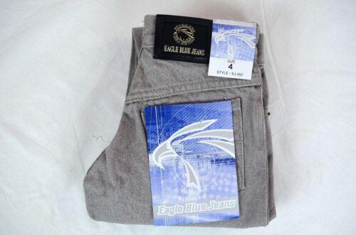Eagle blue jeans Boy Classic//Straight Leg jeans Light Gray 100/% Cotton Solid 4 5