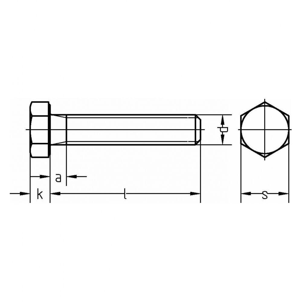25x ISO ISO ISO 4017 Sechskantschraube Gewinde bis Kopf. M 12 x 35 A 4 blank. BUMAX88     | Genialität  4c7c09