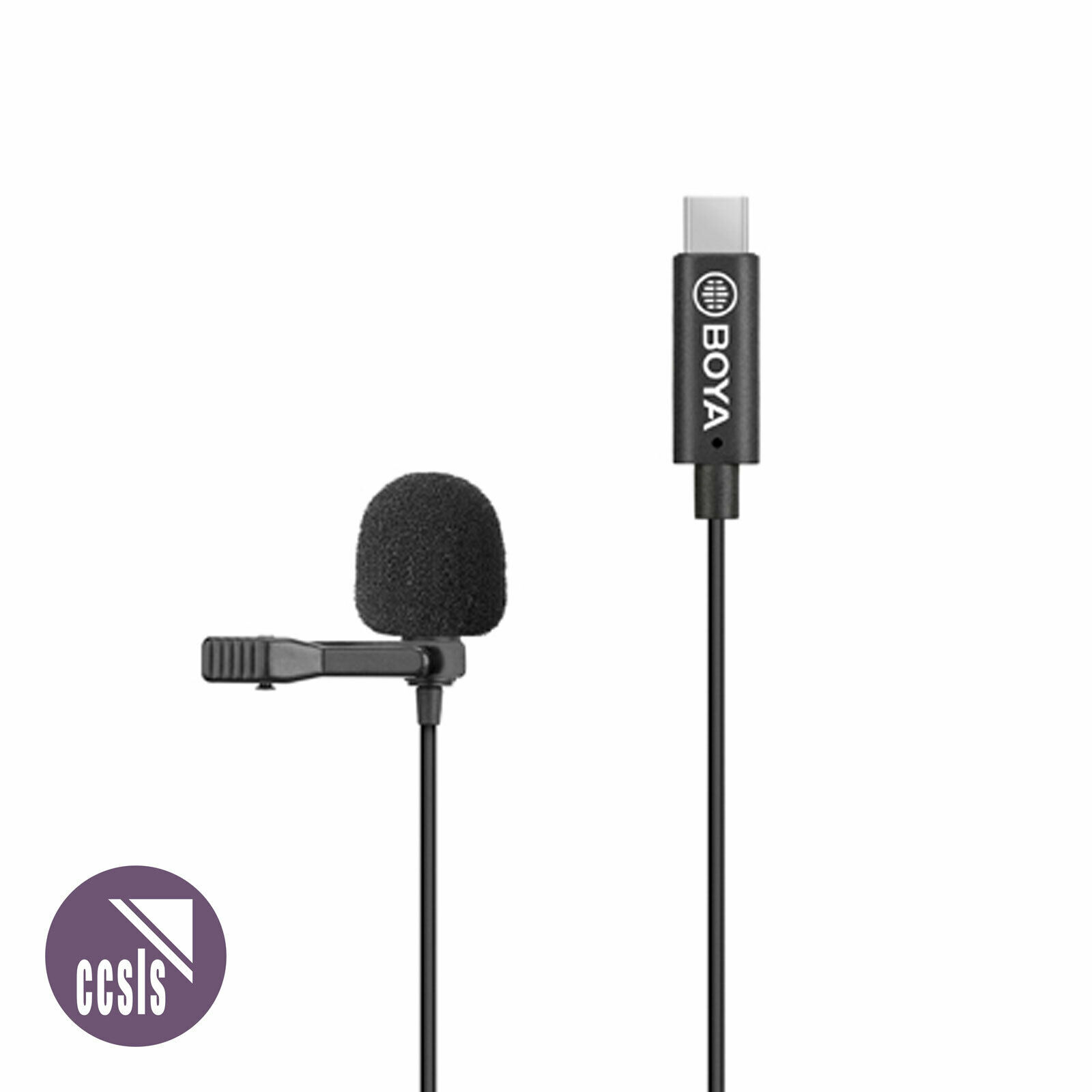 Boya BY-M3 Lav Microphone with USB-C Connector for Android Devices