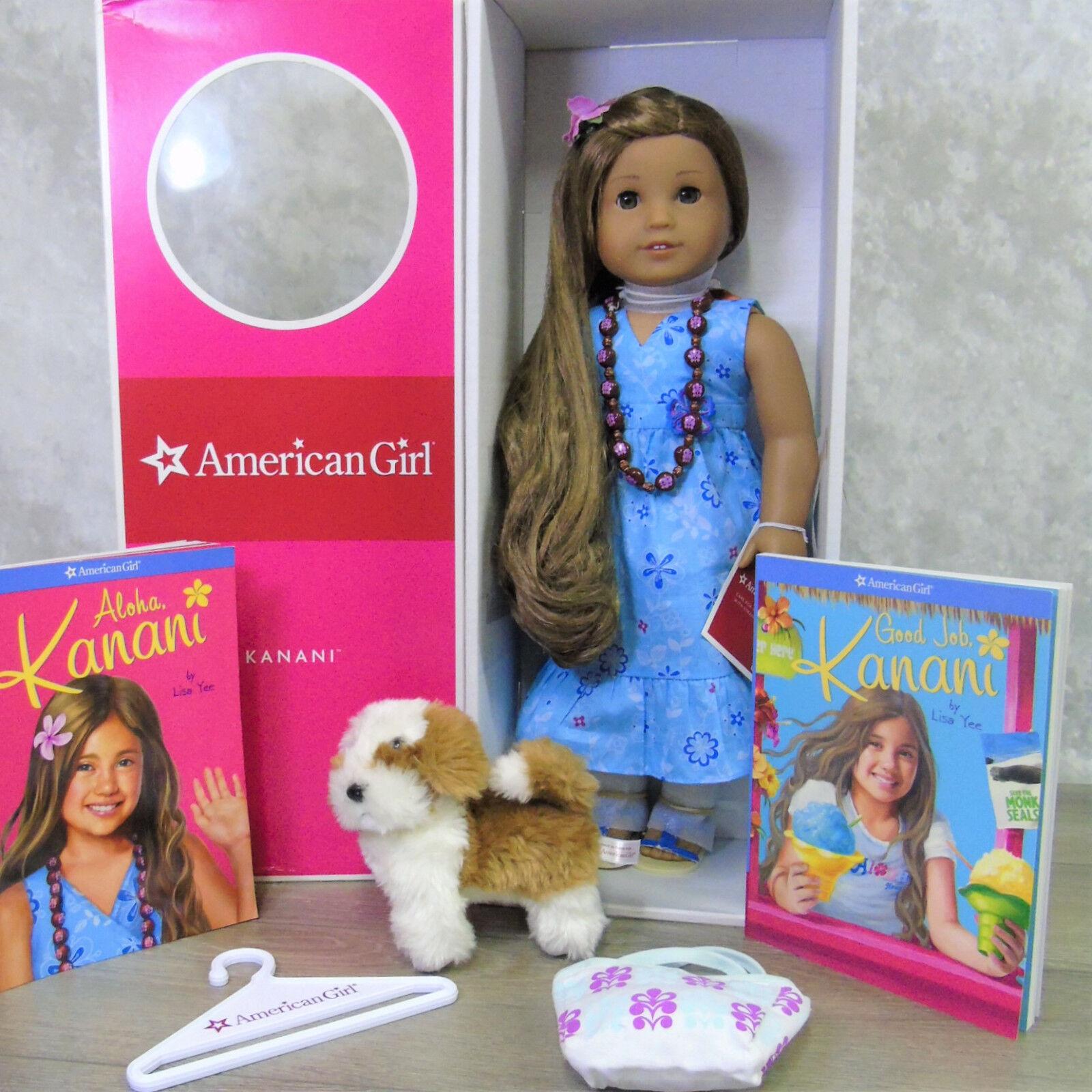 American Girl 18   Kanani Bambola Fare Conoscenza Completo Collana Fiore