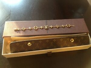 Louis-Vuitton-18k-yellow-gold-Monogram-bracelet-4950-00-Authentic