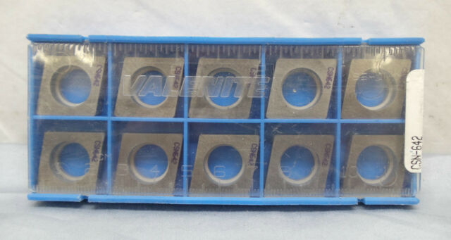 wrs Pack of 10 New Valenite Carbide Inserts SPG-424 VC2