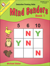 Mind Benders Level 1 : Deductive Thinking Skills by Michael Baker (2013, Paperback)