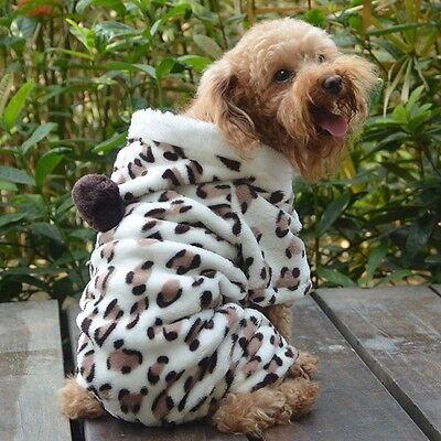 Puppy Winter Fleece Jumpsuit Clothes Pet Dogs Coats Warm Outwear Soft Costume