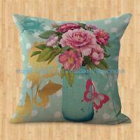Us Seller- Cheap Outdoor Throw Pillows Vintage Floral Cushion Cover