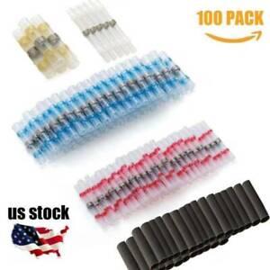 Wire-Splice-Connector-100PCS-Solder-Sleeve-Heat-Shrink-Butt-Waterproof-26-10-AWG