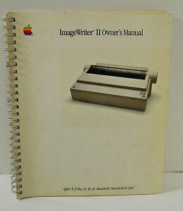 VINTAGE-APPLE-IMAGEWRITER-II-USER-039-S-MANUAL-GUIDE-BOOK-APPLE-II-II-PLUS-LISA