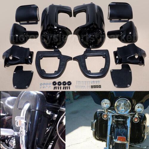 Black Lower Vented Leg Fairing Glove Box For Harley-Davidson Touring Models