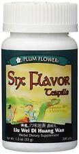 Six Flavor Teapills (Liu Wei Di Huang Wan), 200 ct, Plum Flower