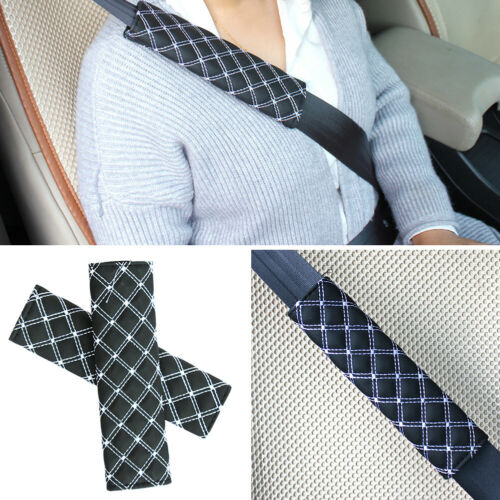 1 Pair Car Safety Seat Belt Soft Comfort Shoulder Protection Pad Cover Accessory