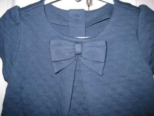 NWT Gymboree Baby Girls Sapphire Blue Quilted Bow Dress Sizes 12-18 /& 18-24 Mos
