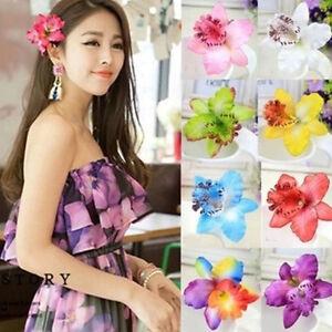 Fashion-Women-Manmade-Cloth-Multi-Flower-Hair-Clip-Barrettes-Hairpin-Accessories