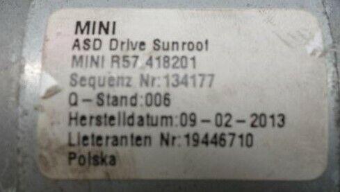 Ingranaggio in nylon capote tettuccio elettrico Mini Cooper R57 Cabrio 418201