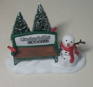DEPARTMENT-56-OUR-OWN-VILLAGE-PARK-BENCH-UNDERHILLS-ACCENTS-NIB-FREE-SHIPPING