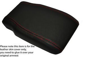 GREY STITCH SUEDE ARMREST LID COVER FOR MERCEDES C CLASS C203 W203 COUPE 01-07